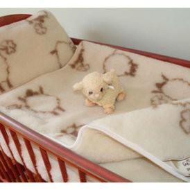 Vaikiška dvisluoksnė vilnos antklodė