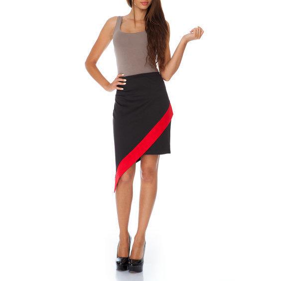 Sijonas juodas su raudonu