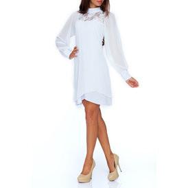 Suknele sifonine su azuru baltos spalvos