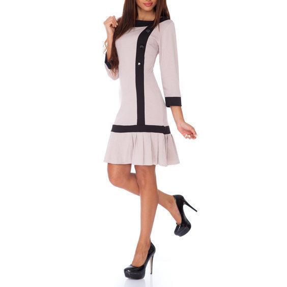 Suknele teniso stiliaus su sagutemis smelio spalvos