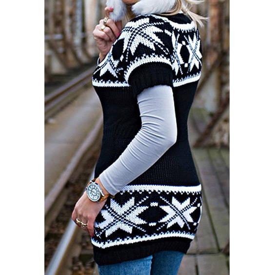 Megztinis su norvegisku rastu juodas
