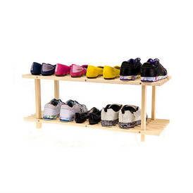 Medinė dviejų lentynų batų