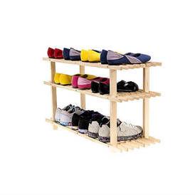 Medinė trijų lentynų batų