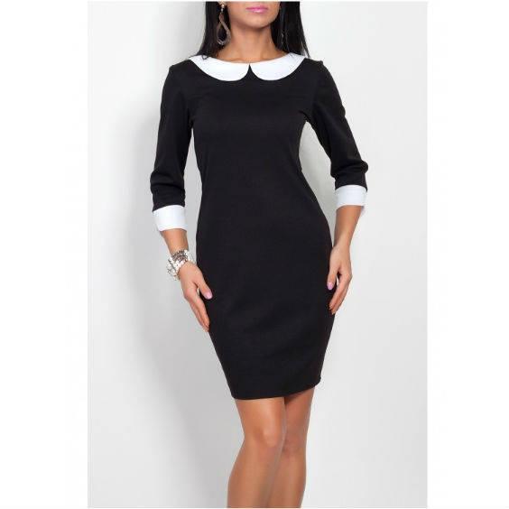 Klasikine suknele su apykakle v140 2 1