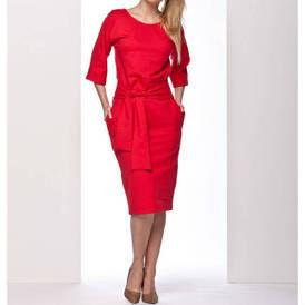 Nr1 suknele su kaspinu raudona