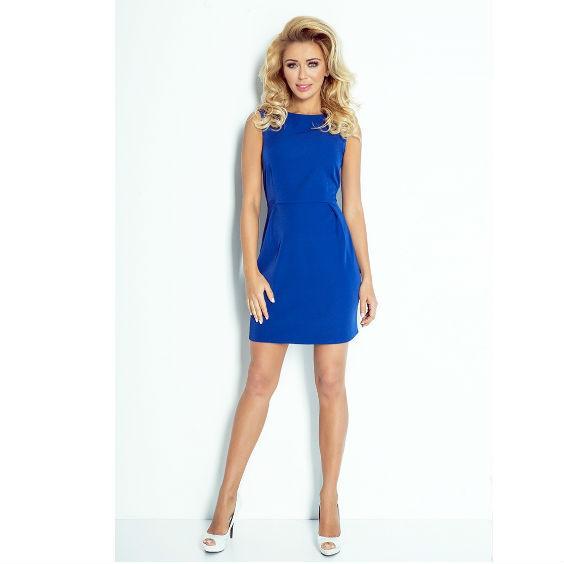 Mėlyna klasikinė suknelė