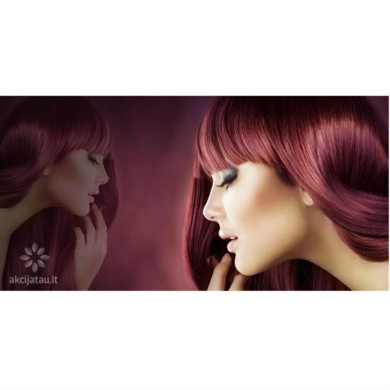 Plaukų dažymas laminavimas, kirpimas
