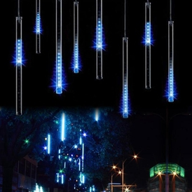 Icicle snow fall string led christmas tree decoration cascading meteor light decoration